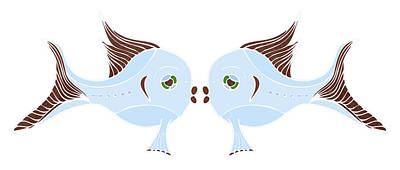 Fish Lovers Poster by Frank Tschakert