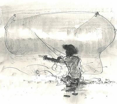 Fisherman Sri Lanka Poster by Lincoln Seligman