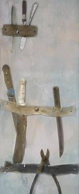 Fishing Boat Tools Poster by Tom Singleton