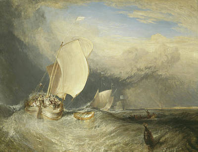 Fishing Boats With Hucksters Bargaining For Fish Poster by Joseph Mallord William Turner