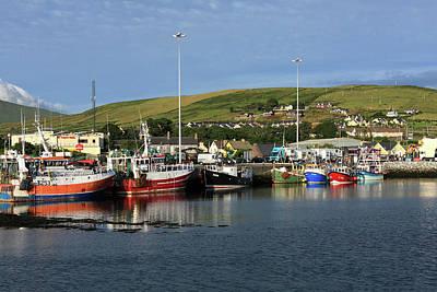 Fishing Fleet At Dingle, County Kerry, Ireland Poster by Aidan Moran