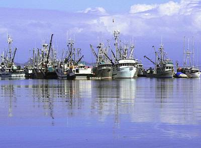 Fishing Fleet Vancouver Island Bc Poster by Barbara St Jean