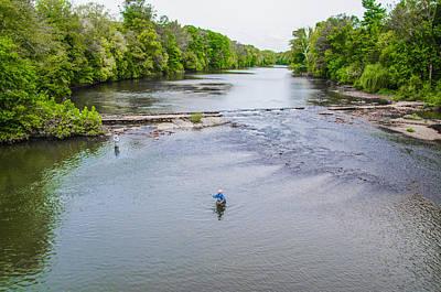 Fishing In The Pekiomen Creek Poster by Bill Cannon