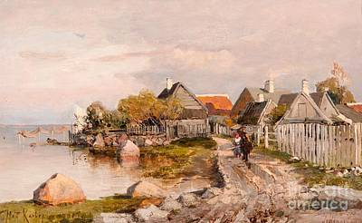 Fishing Village In Haapsalu Poster by MotionAge Designs