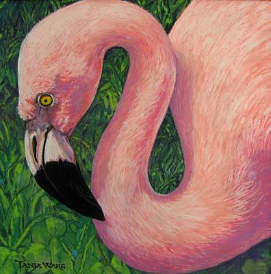 Flamboyant Flamingo Poster by Tanja Ware