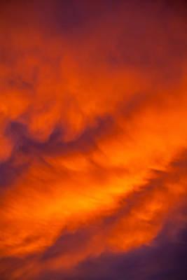 Flaming Skies Poster by Az Jackson