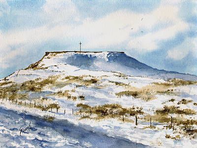 Flat Top In The Snow Poster by Sam Sidders