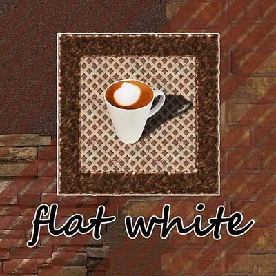 Flat White - Coffee Art Poster by Anastasiya Malakhova
