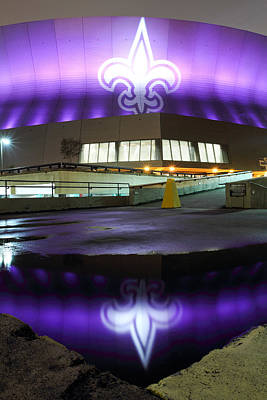 Fleur Di Lis Reflected Poster by Pixel Perfect by Michael Moore