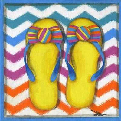 Flip Flops 2 Poster by Debbie Brown