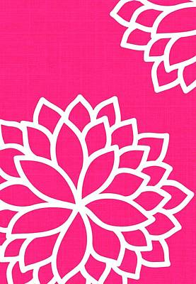 Floral Bursts Fuchsia Poster by Chastity Hoff