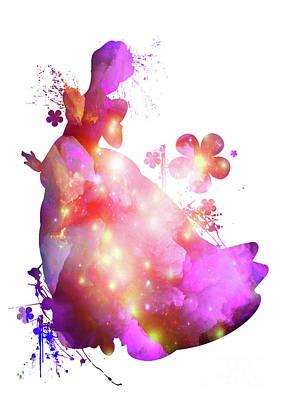 Floral Cinderella  Poster by Prar Kulasekara
