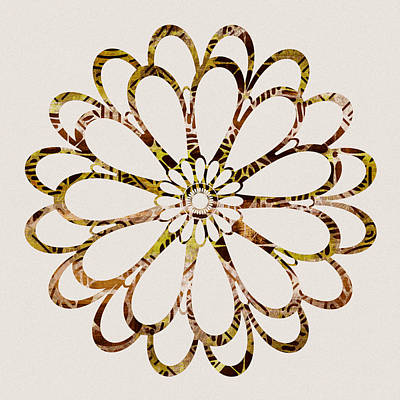 Floral Design Ornament Poster by Frank Tschakert