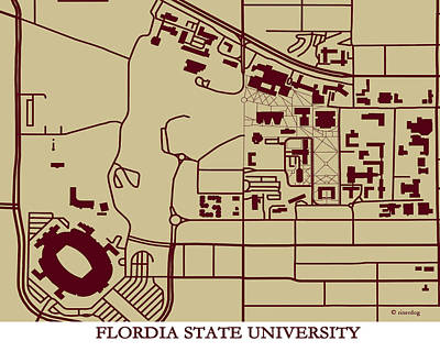 Florida State  University Campus  Poster by Spencer Hall