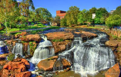 Flow On Reedy River Falls Park Art Greenville Sc Poster by Reid Callaway