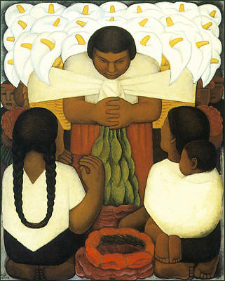 Flower Day Poster by Diego Rivera