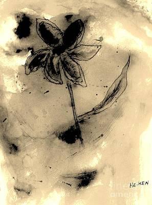 Flower Negative Poster by Marsha Heiken
