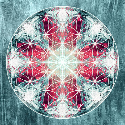 Flower  Of Life 10 Poster by Filippo B