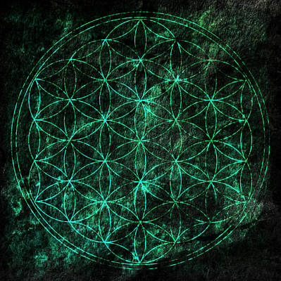 Flower Of Life 1 Poster by Edouard Coleman