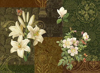 Flower Patchwork 2 Poster by JQ Licensing