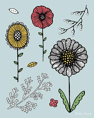 Flower Play Poster by Christina Steward