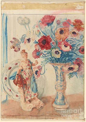 Flowers And Porcelain Poster by Celestial Images