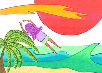 Flying Over The Beach Poster by Geree McDermott