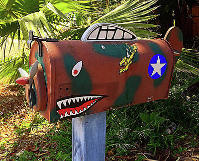 Flying Tiger Mailbox Poster by Ron Regalado