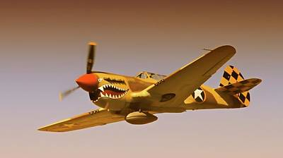 'flying Tigers' Poster by Gus McCrea