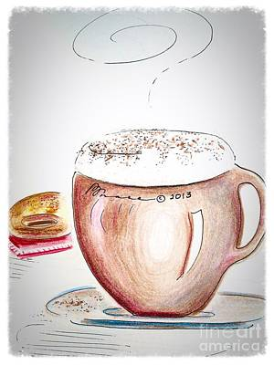 Foamy Cappuccino  Poster by Barbara Chase