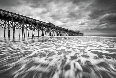 Folly Beach Pier Sc Scenic Seascape Photography Poster by Dave Allen