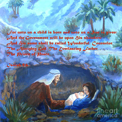 For Unto Us A Child Is Born Poster by Maria Hunt