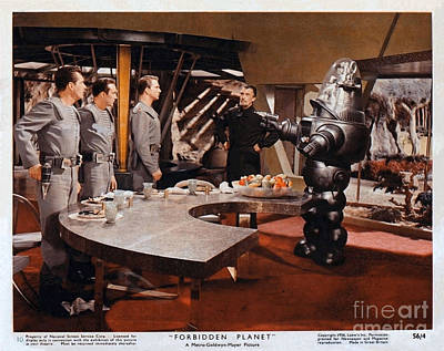 Forbidden Planet Amazing Poster Inside With Scientist Poster by R Muirhead Art
