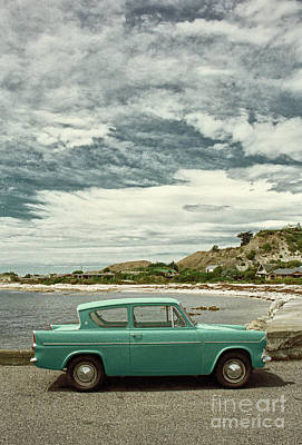 Ford Anglia In New Zealand Poster by Simon Bradfield