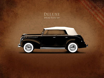 Ford Deluxe V8 1938 Poster by Mark Rogan