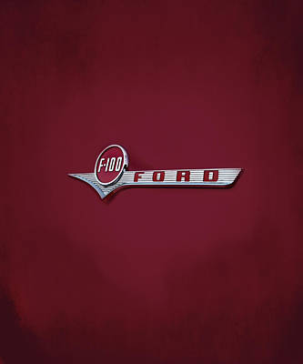 Ford F100 Poster by Mark Rogan