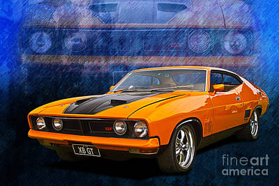 Ford Falcon Xb 351 Gt Coupe Poster by Stuart Row