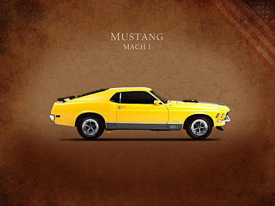 Ford Mustang Mach 1 Poster by Mark Rogan