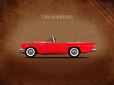 Ford Thunderbird 1957 Poster by Mark Rogan