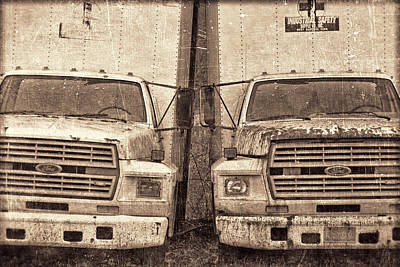 Forgotten Trucks Poster by Jeff  Gettis
