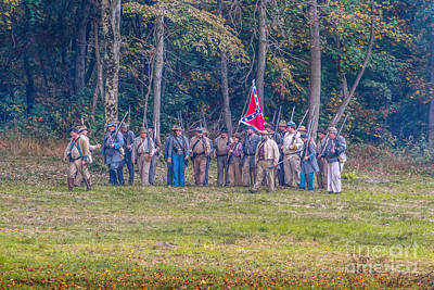 Forming Ranks Confederate Soldiers Poster by Randy Steele
