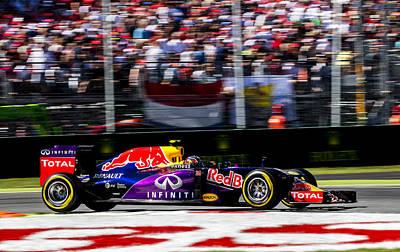 Formula 1 Monza Red Bull Poster by Srdjan Petrovic