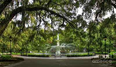 Forsyth Park Fountain Historic Savannah Georgia Poster by Reid Callaway