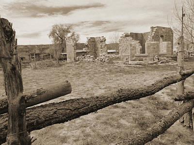 Fort Bluff Ruins Poster by Jeff Brunton
