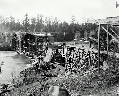 Fort George Wright Bridge - Spokane 1927 Poster by Daniel Hagerman