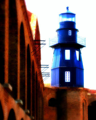 Fort Jefferson Lighthouse Poster by Perry Webster