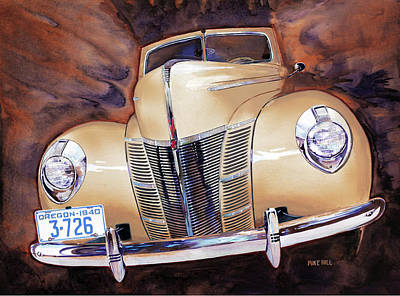 Forty Poster featuring the painting Forty Ford by Mike Hill