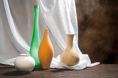 Four Vases II Poster by Tom Mc Nemar