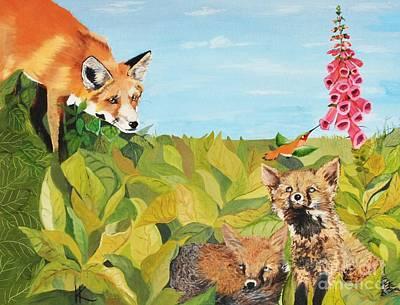 Fox Gloves Poster by Kimatha Kesner