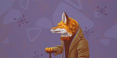 Fox Poster by Jasper Oostland